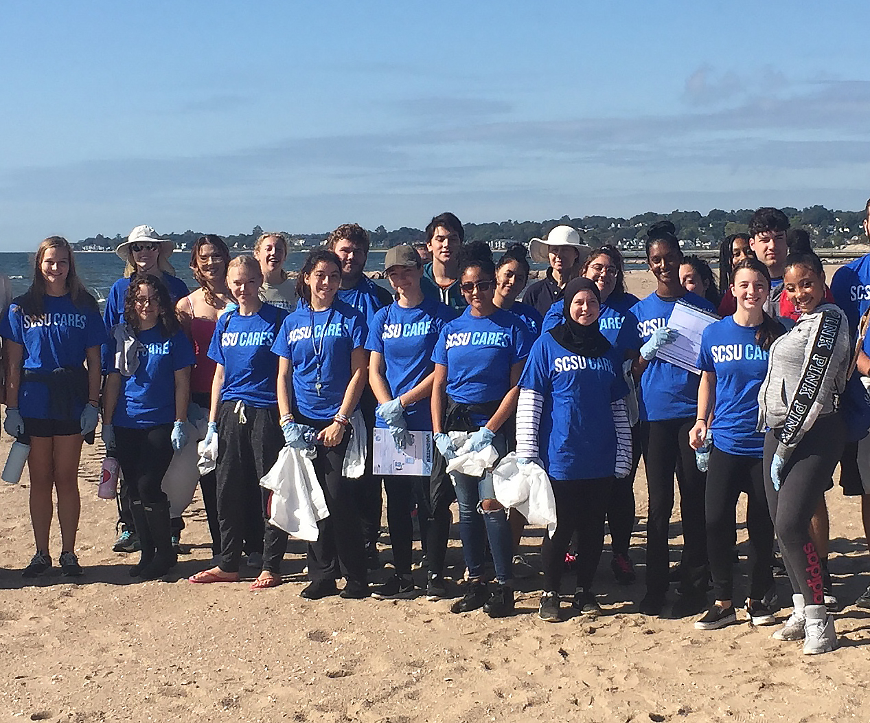 Group of volunteers for coastal cleanups